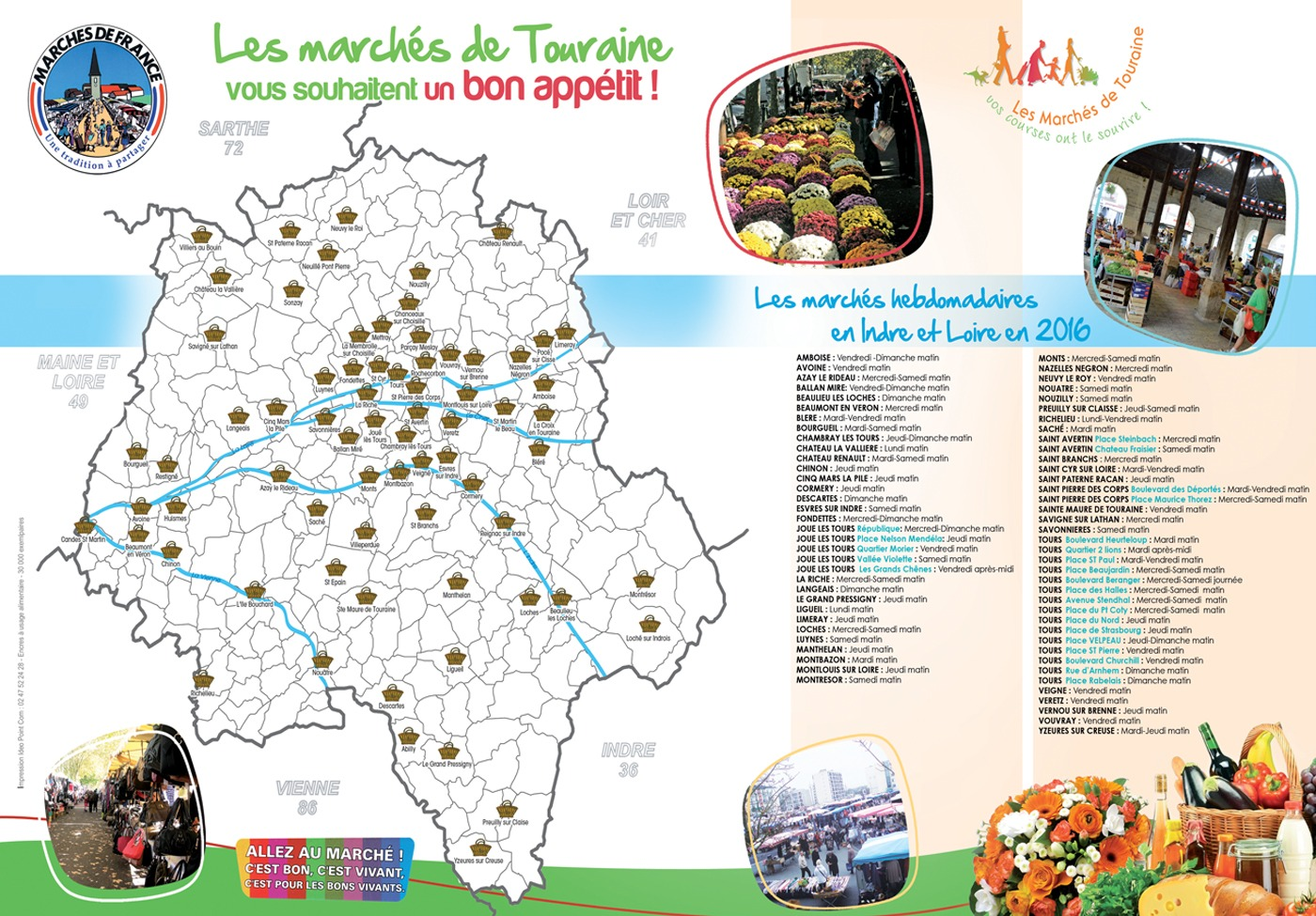 Plan marché de Touraine
